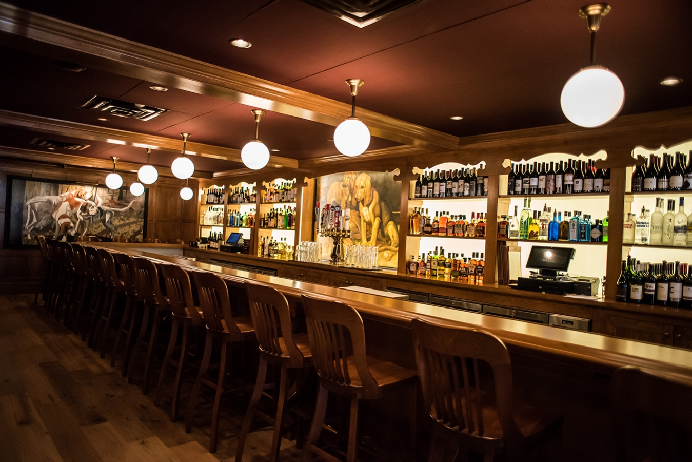 The bar is an energetic spot for happy hour
